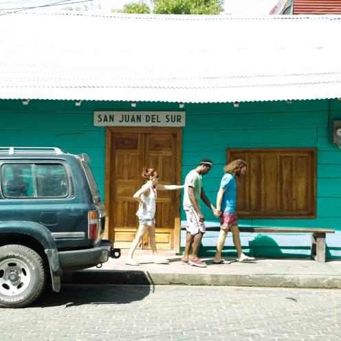 En las calles de San Juan del Sur