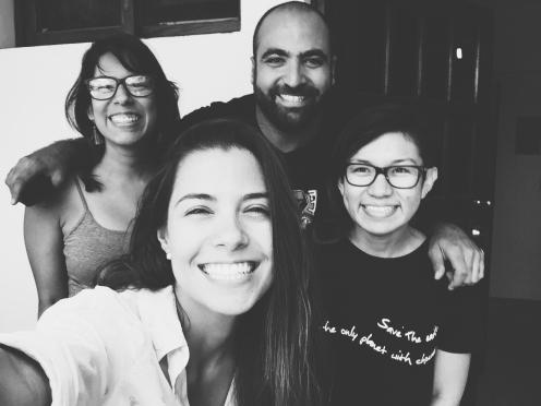 Alejandra, Pierre, Amanda y Yo